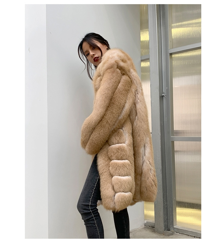 Fox Fur Long Coat 0053b-9