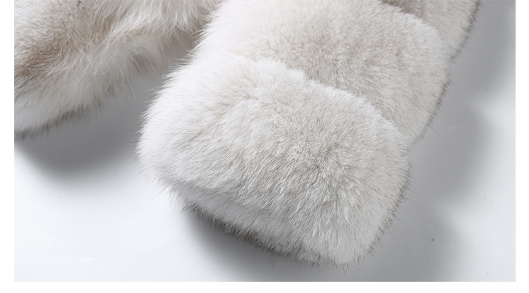 Blue Fox Fur Coat 006 Details 3