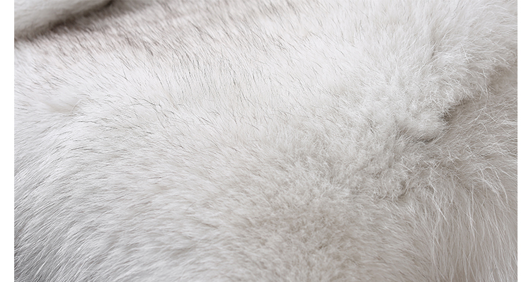 Blue Fox Fur Coat 006 Details 4