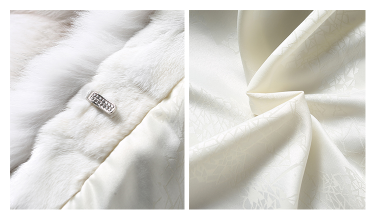 Blue Fox Fur Coat 006 Details 5