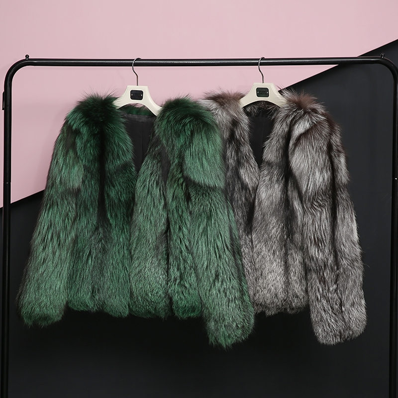 Silver Fox Fur Jacket 0068-0
