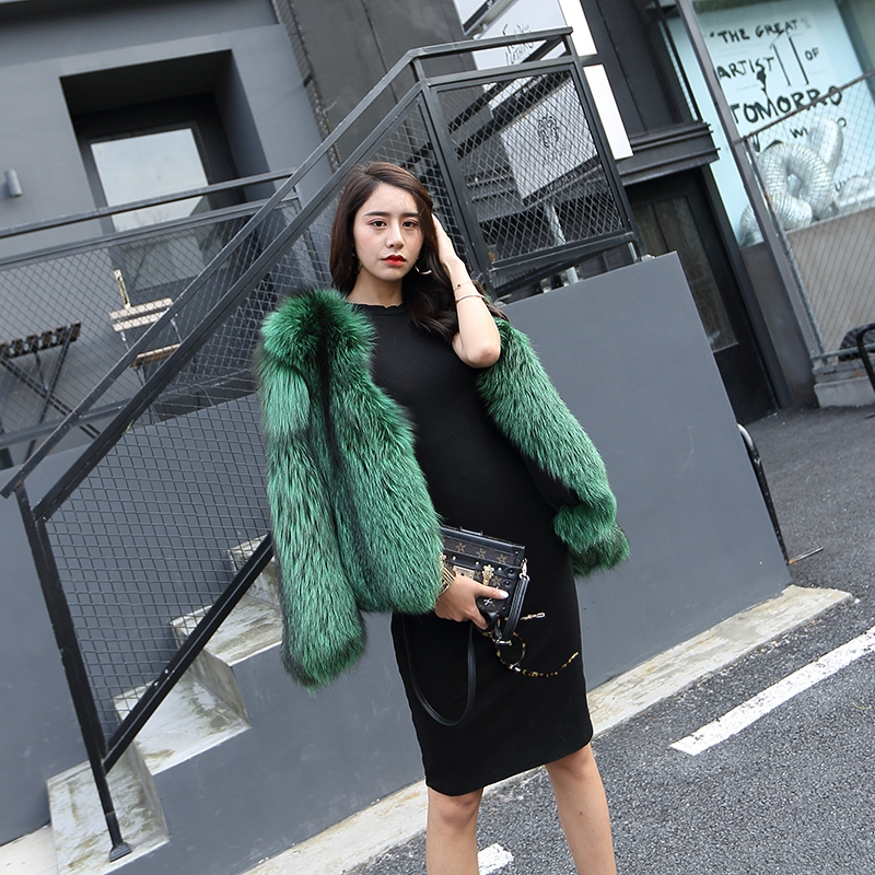 Silver Fox Fur Jacket 0068-2