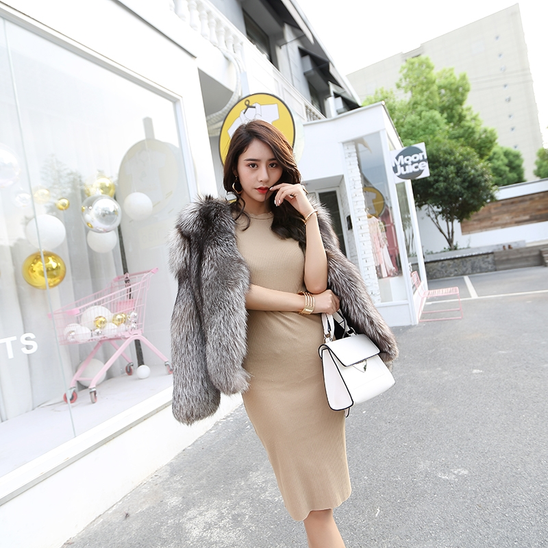 Silver Fox Fur Jacket 0068-3