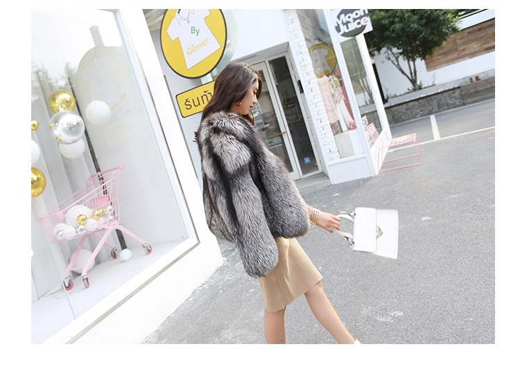 Silver Fox Fur Jacket 0068-4