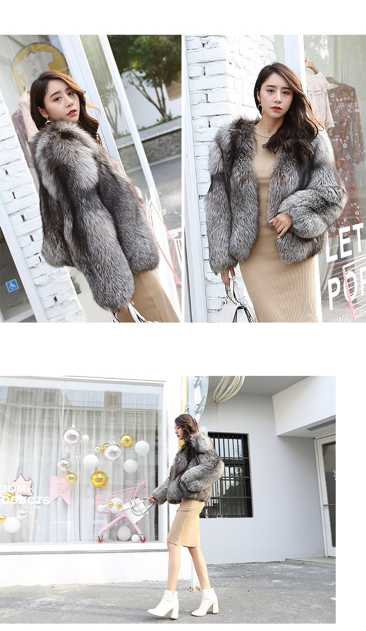 Silver Fox Fur Jacket 0068-5