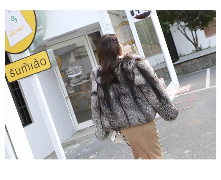 Silver Fox Fur Jacket 0068-6