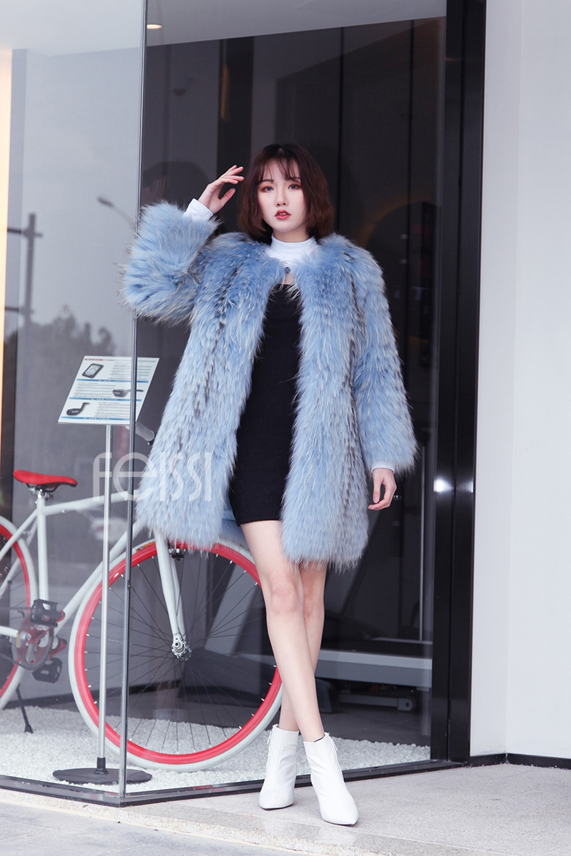 Raccoon Fur Coat 0096-2