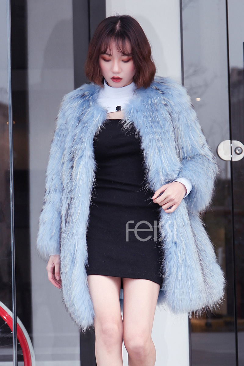 Raccoon Fur Coat 0096-6