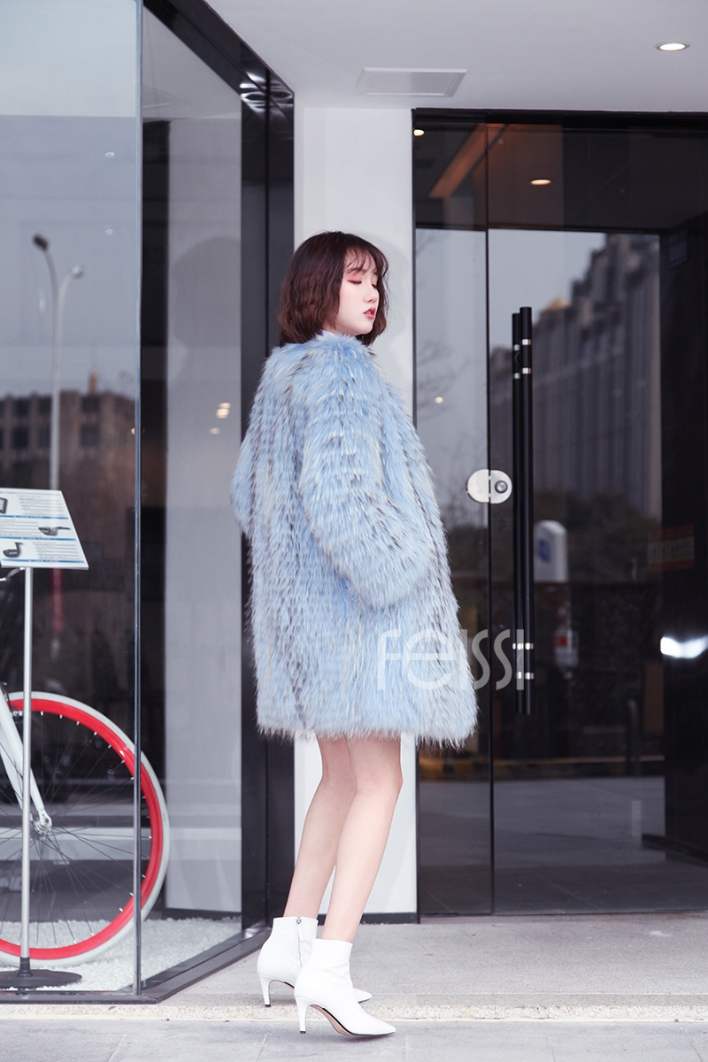 Raccoon Fur Coat 0096-7