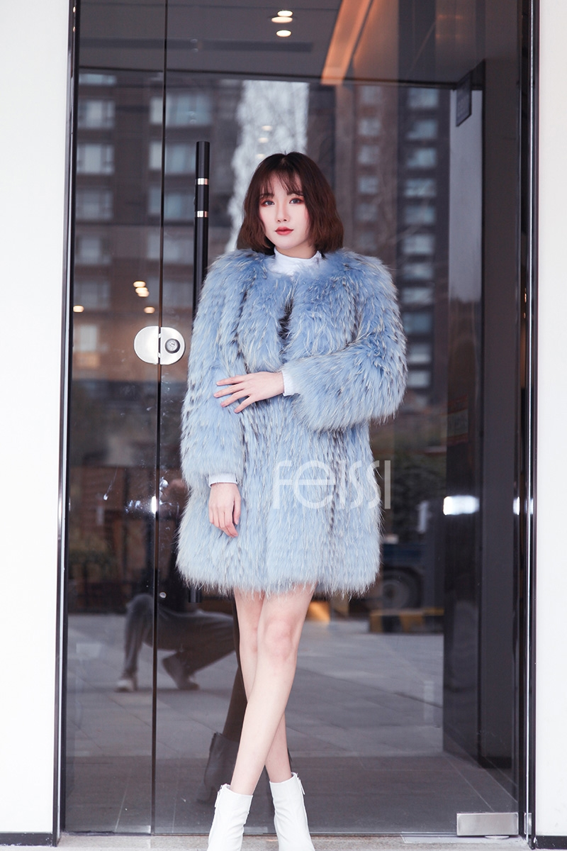 Raccoon Fur Coat 0096-8