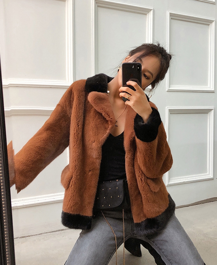 Mink Fur Bomber Jacket 0107-3