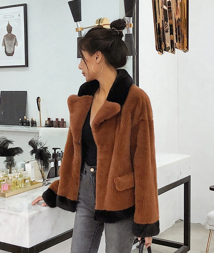 Mink Fur Bomber Jacket 0107-4
