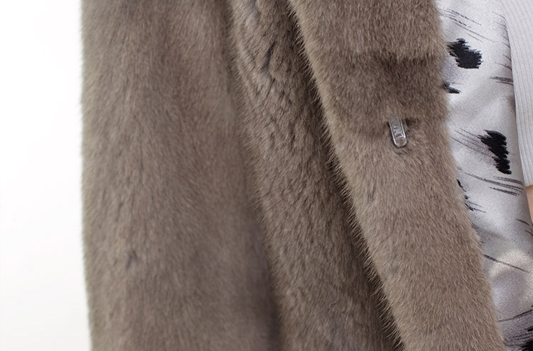 Mink Fur Jacket with Chinchilla Fur Trim 0115-14