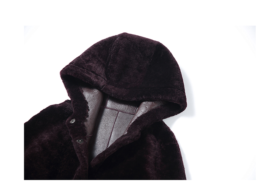 3-4 Length Merino Shearling Sheepskin Long Coat 012 Details 34