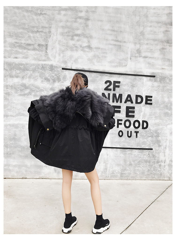Detachable Fox Fur Liner Parka with Zipped Hood 014 Details 2