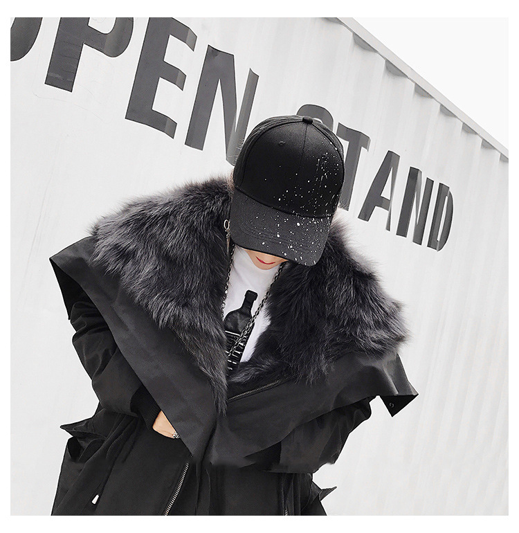 Detachable Fox Fur Liner Parka with Zipped Hood 014 Details 5