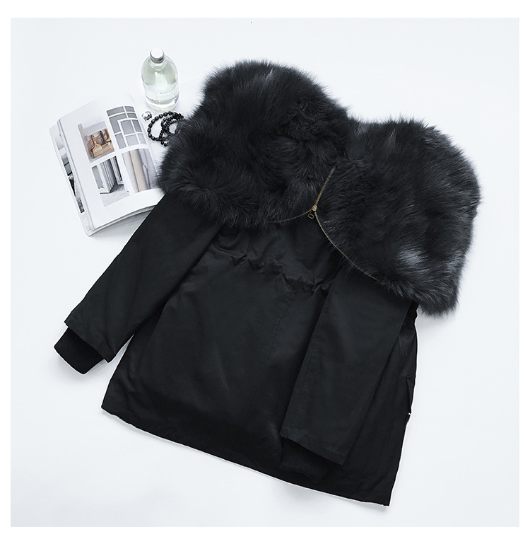 Detachable Fox Fur Liner Parka with Zipped Hood 014 Details 7