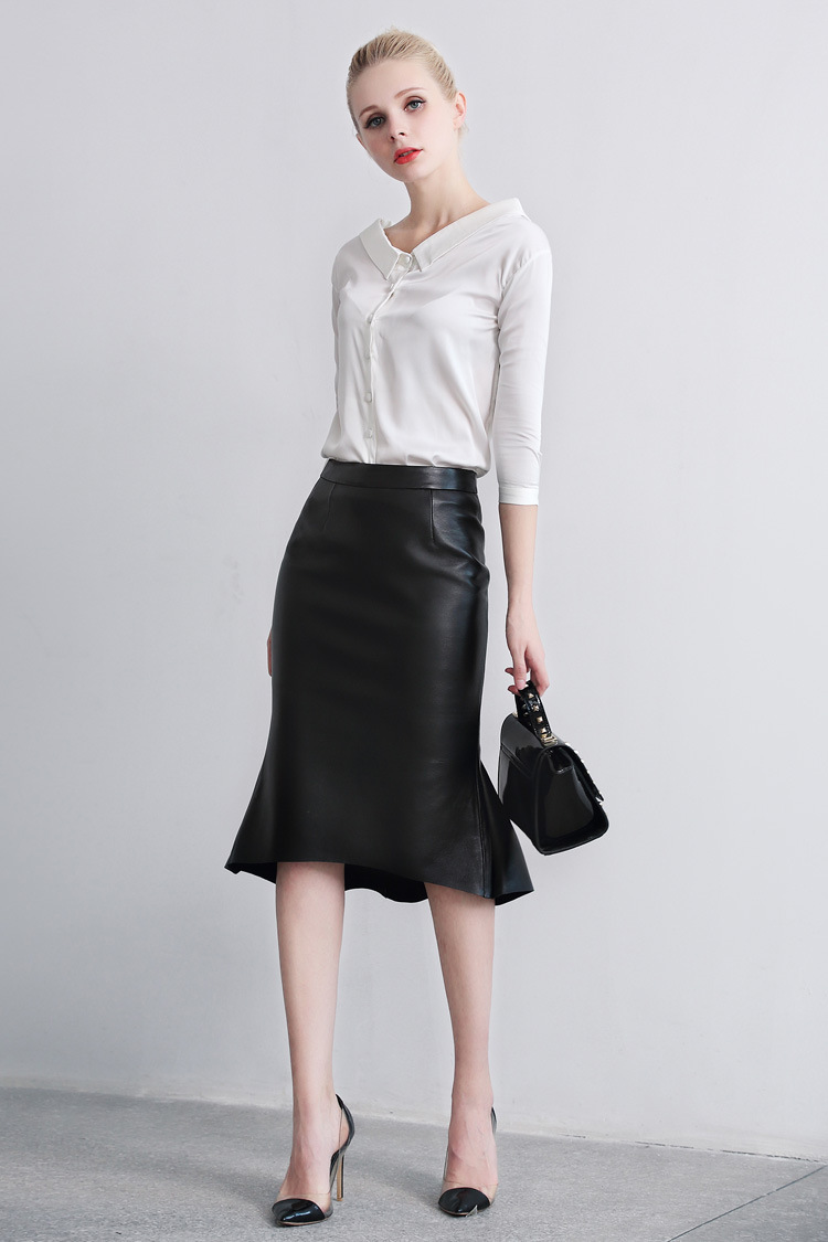 Sheep Leather Fishtail Skirt 015 Details 3