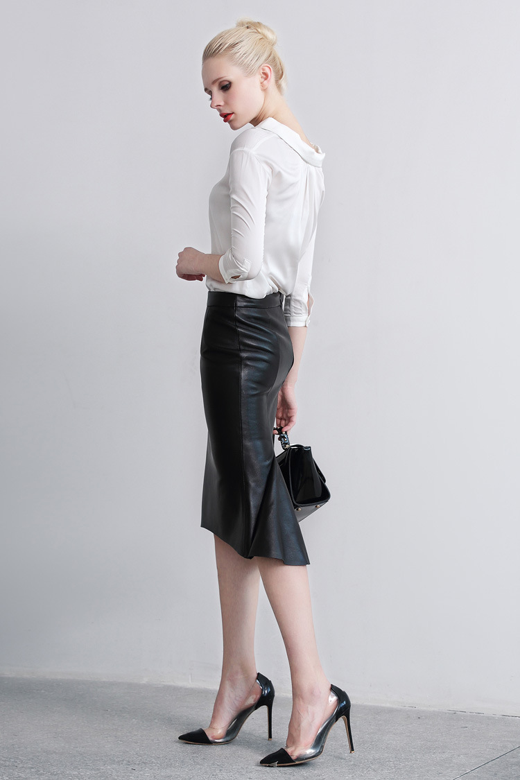 Sheep Leather Fishtail Skirt 015 Details 5