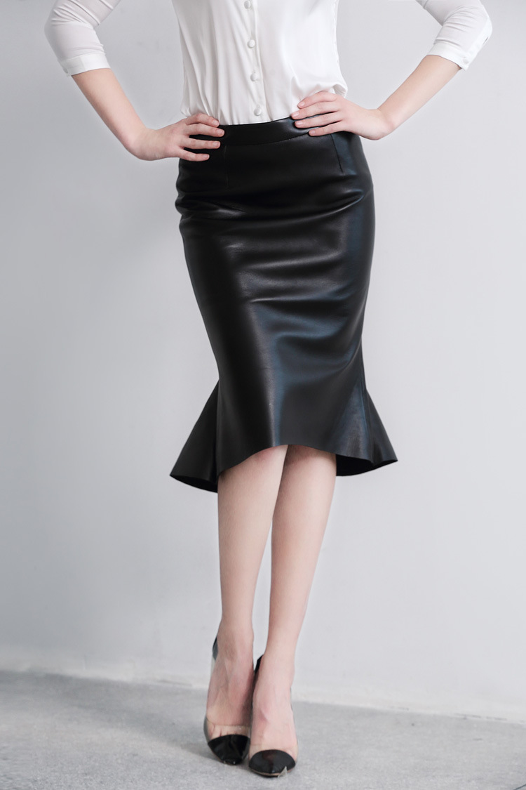 Sheep Leather Fishtail Skirt 015 Details 6