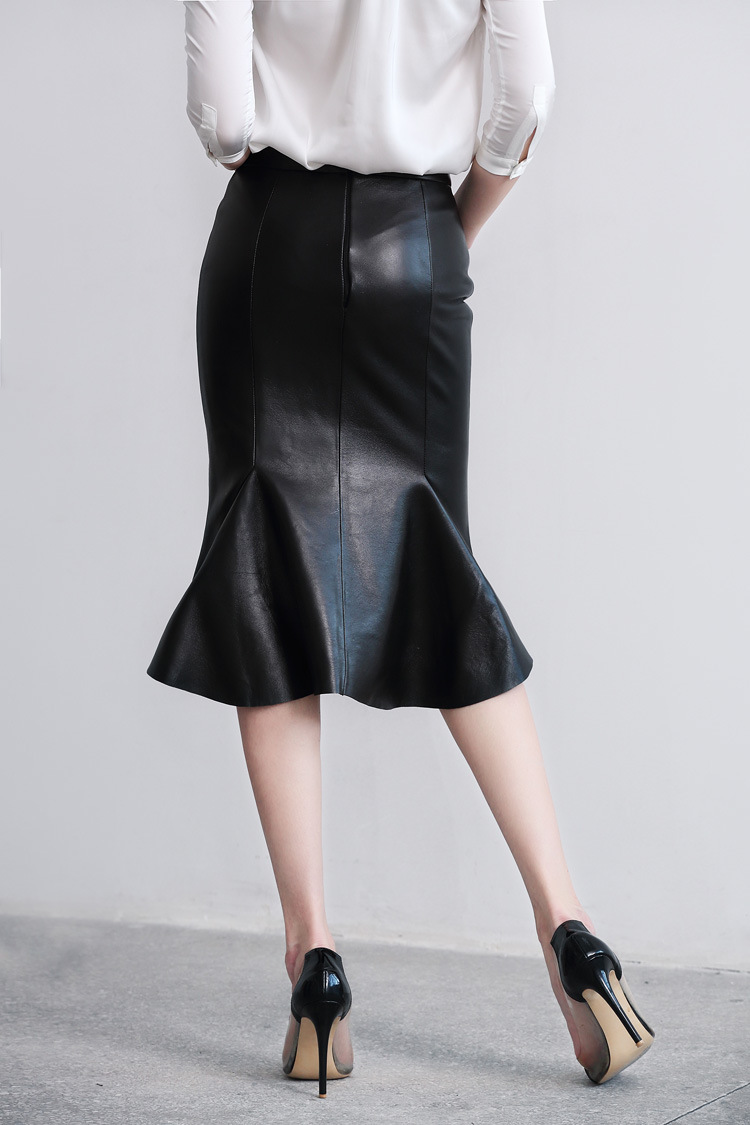Sheep Leather Fishtail Skirt 015 Details 8