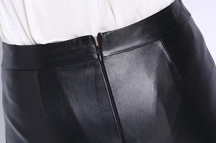 Sheep Leather Fishtail Skirt 015 Details 9