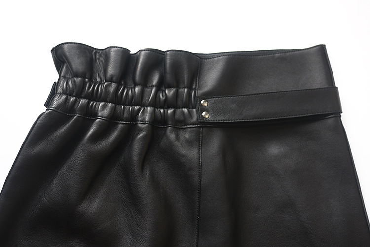 Sheepskin Real Leather Waistbelted Skirt 017 Details 8