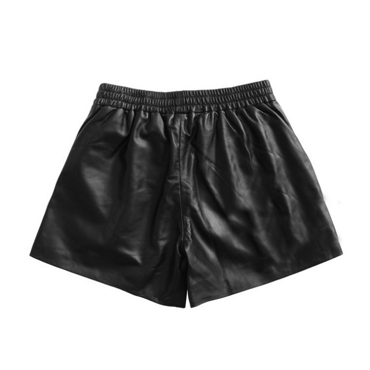 Women's Real Leather Short Pants 020 Details 2