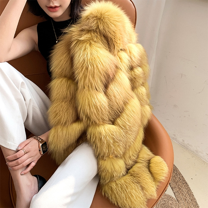 Cropped Fox Fur Jacket 0223B1