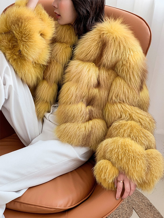 Cropped Fox Fur Jacket 0223B3