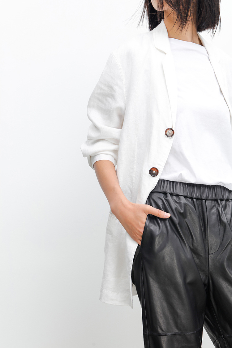 Sheepskin Real Leather Pants 023 Details 1