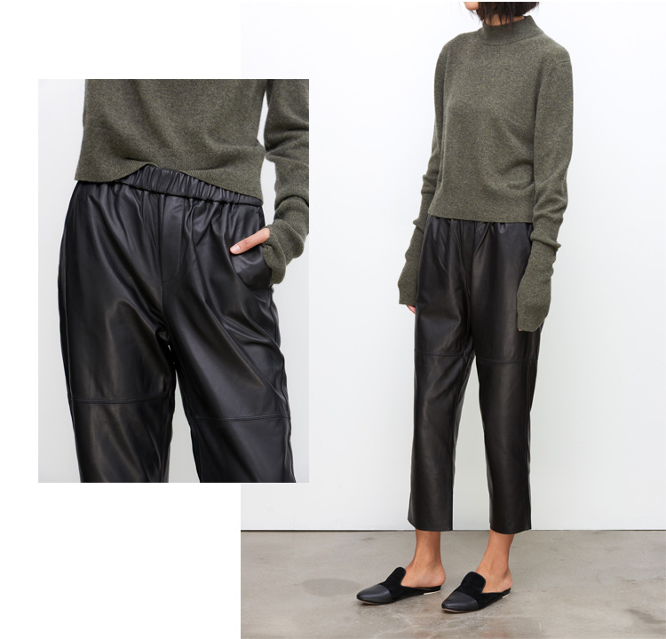 Sheepskin Real Leather Pants 023 Details 2