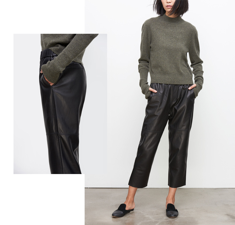 Sheepskin Real Leather Pants 023 Details 3