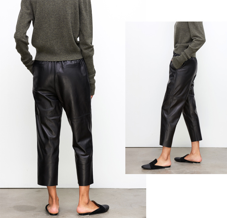 Sheepskin Real Leather Pants 023 Details 4