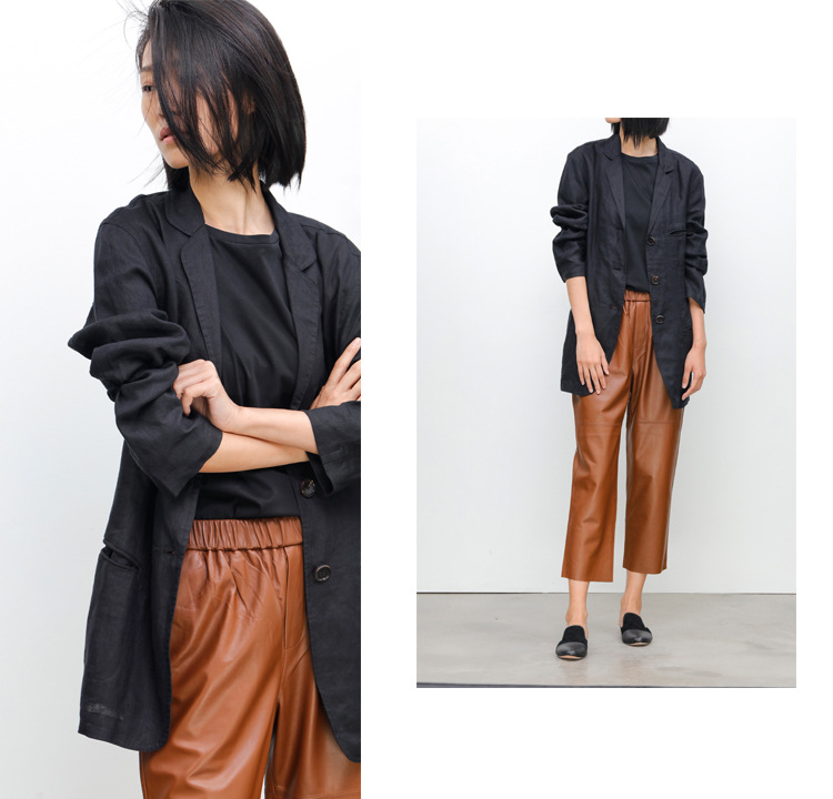 Sheepskin Real Leather Pants 023 Details 5