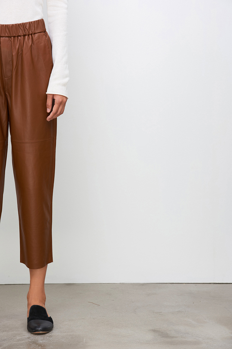 Sheepskin Real Leather Pants 023 Details 6