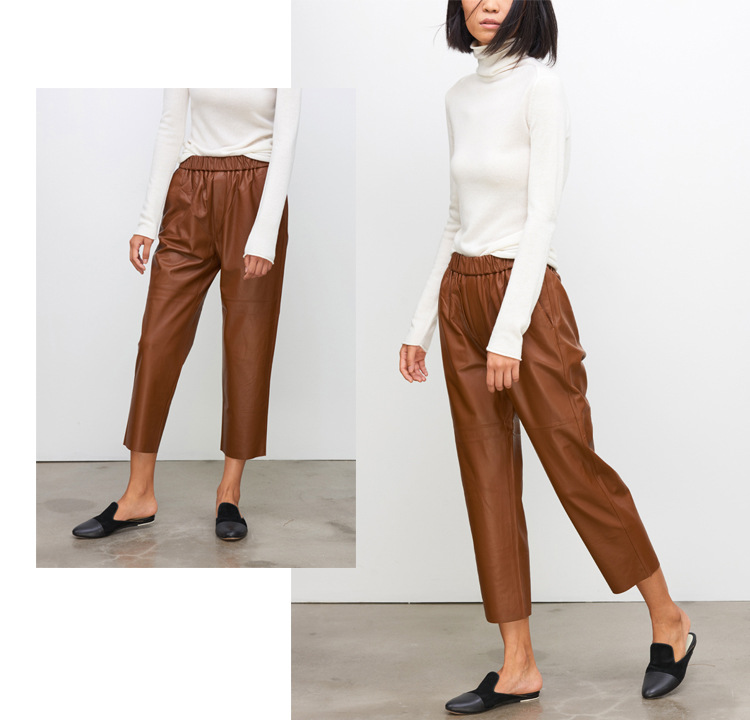 Sheepskin Real Leather Pants 023 Details 7