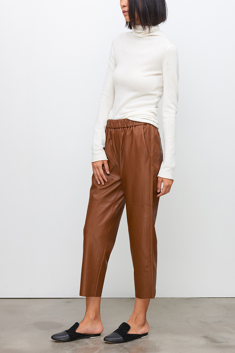 Sheepskin Real Leather Pants 023 Details 8