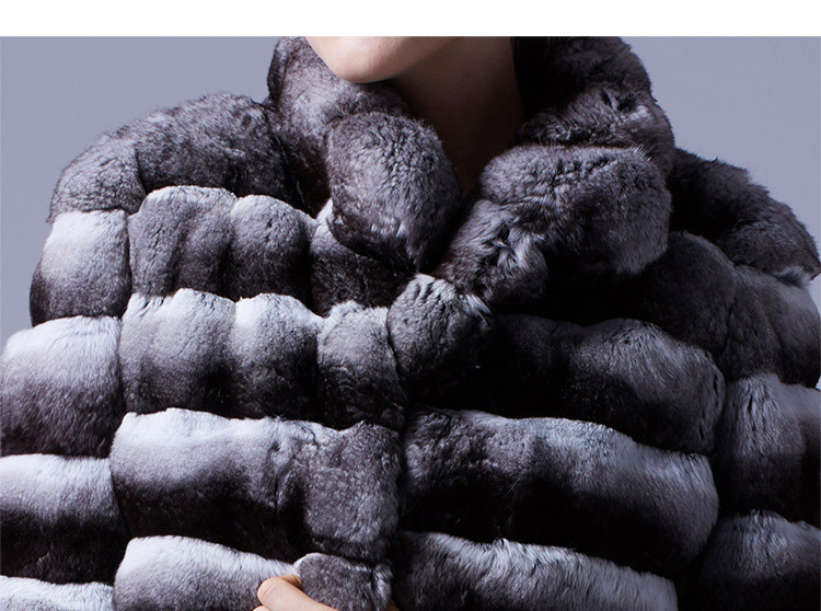Cropped Chinchilla Fur Bolero Jacket 025 Details 3