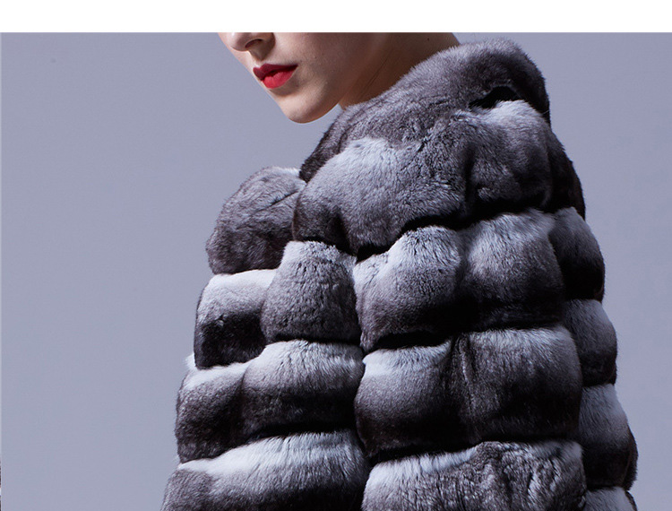 Chinchilla Fur Bolero Cape 027 Details 3