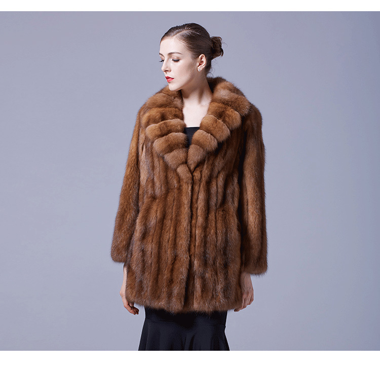 Sable Fur Coat 056 Details 2