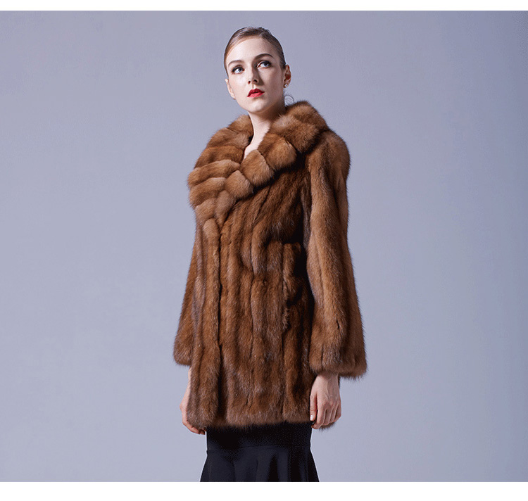 Sable Fur Coat 056 Details 4