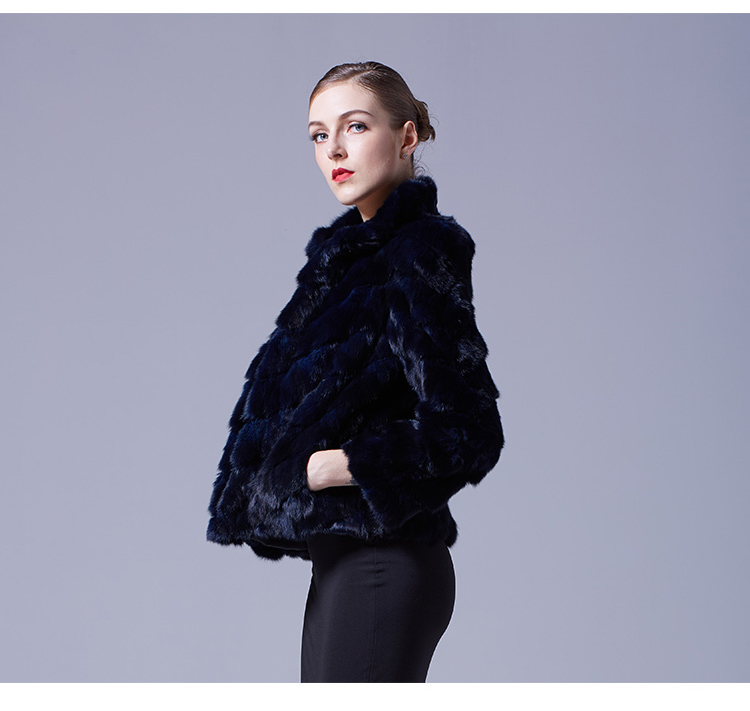 Cropped Sable Fur Jacket 068 Details 3