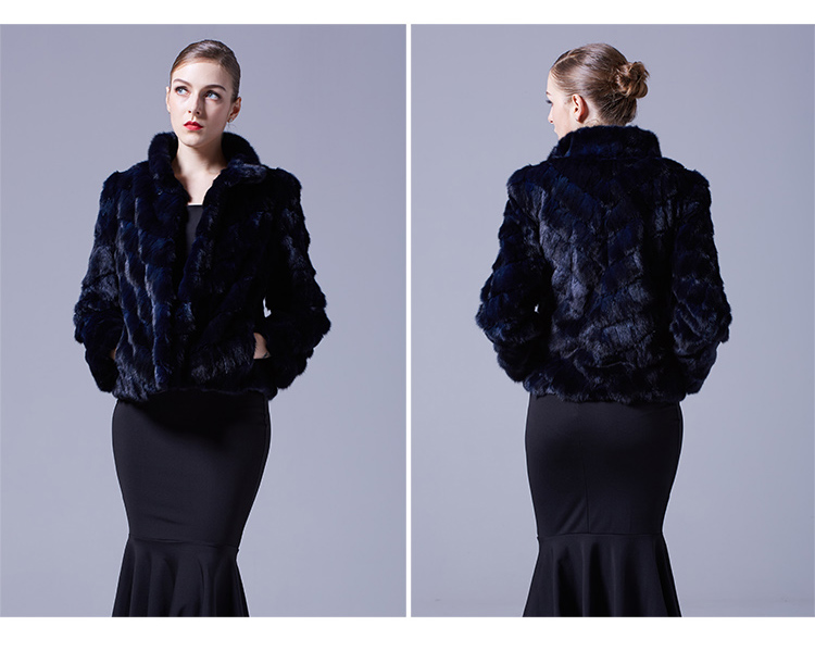 Cropped Sable Fur Jacket 068 Details 4