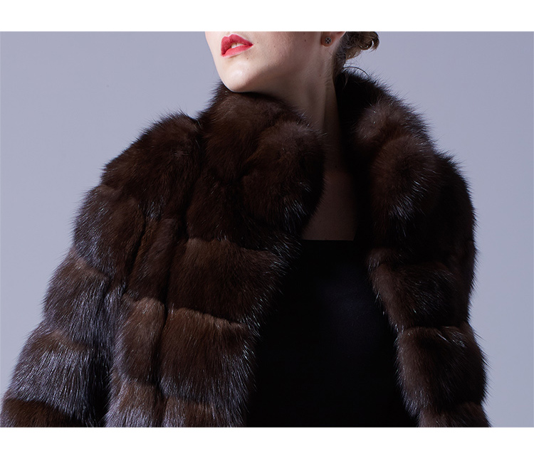 Sable Fur Long Coat 069 Details 1