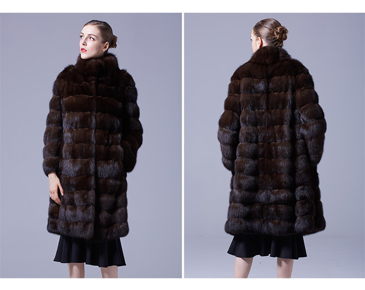 Sable Fur Long Coat 069 Details 2