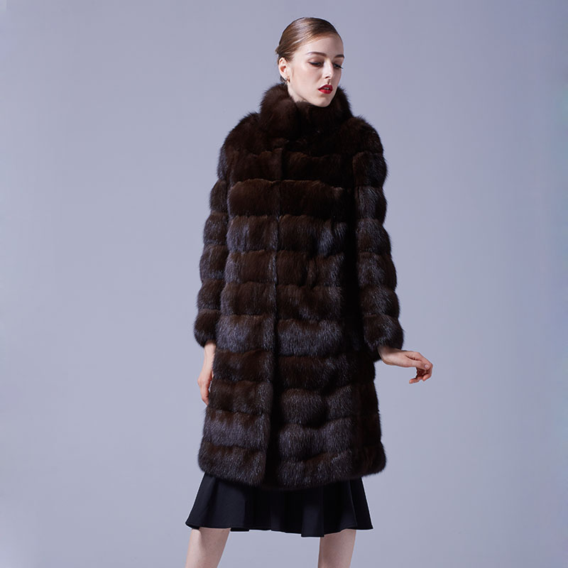 Sable Fur Long Coat 069 Details 3