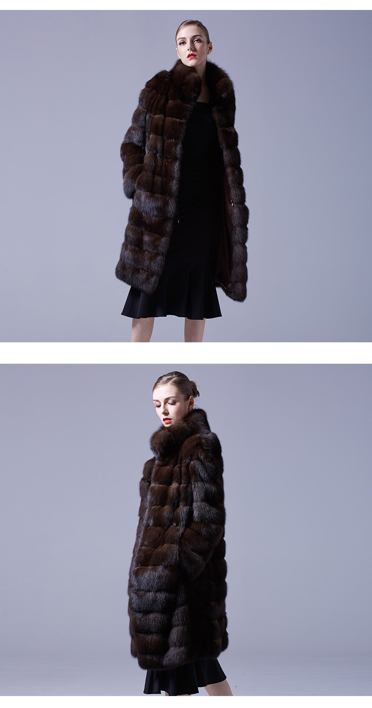 Sable Fur Long Coat 069 Details 4