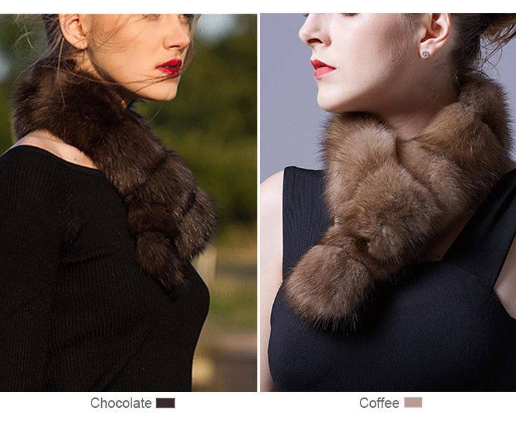 Sable Fur Scarf 071 Details 1