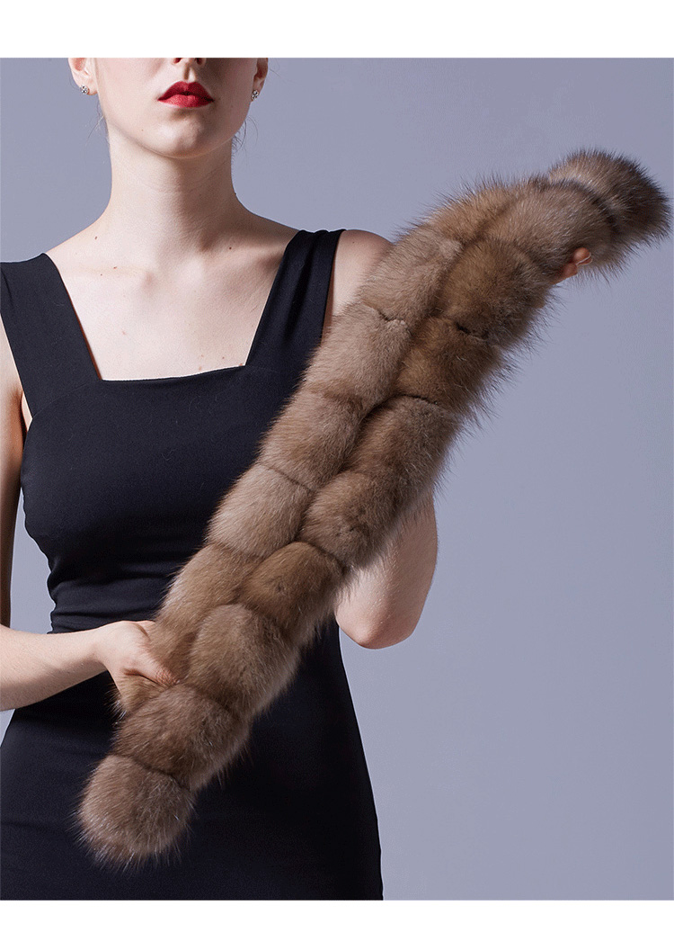 Sable Fur Scarf 071 Details 4